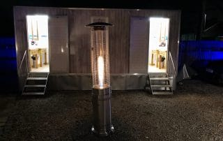 patio heater marquee hire
