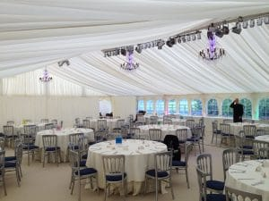 clearspan wedding marquee furniture