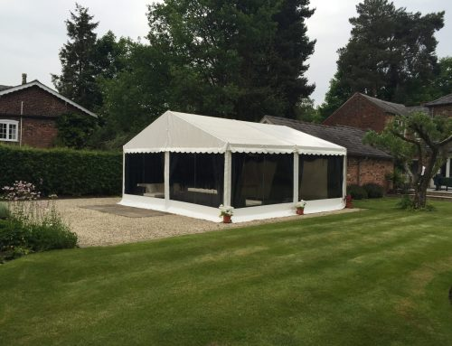 Small party marquee in Wilmslow