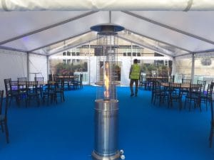 inside clear roof marquees