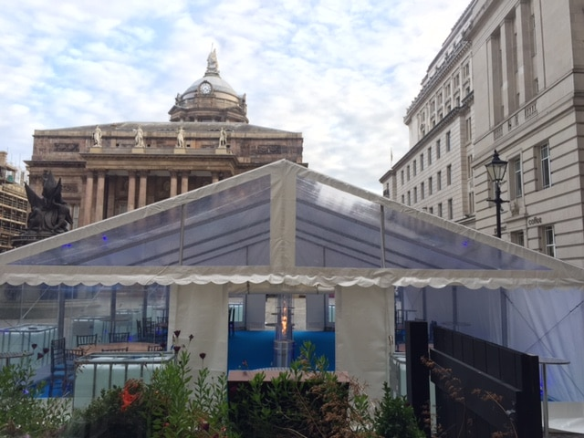 clear roof marquees