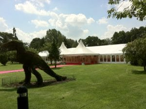 retirement party marquee
