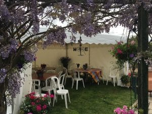 garden party marquee in Mobberley, Cheshire
